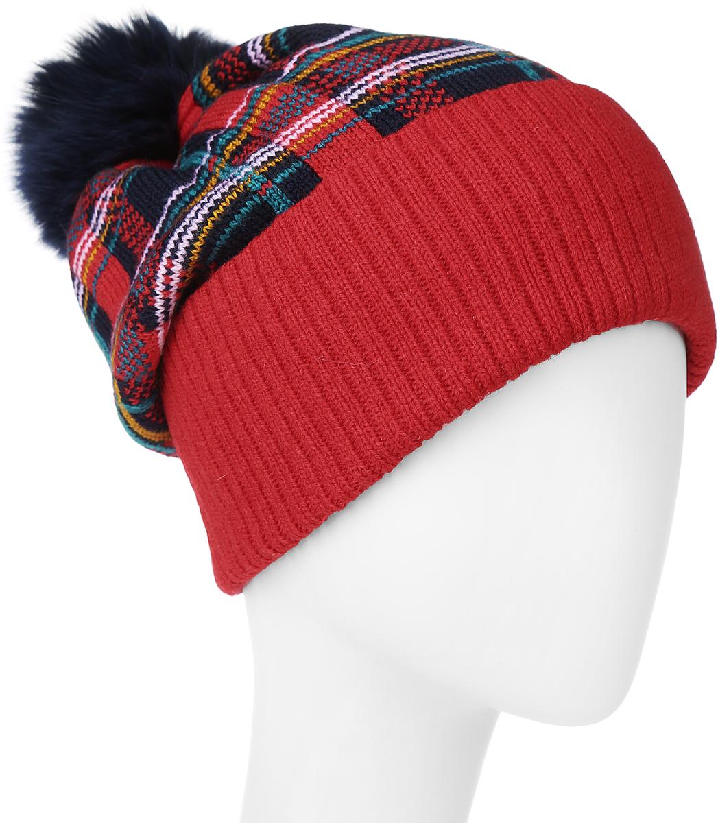 4340Теплая женская шапка Marhatter отлично дополнит ваш образ в холодную погоду. Сочетание шерсти и акрила максимально сохраняет тепло и обеспечивает удобную посадку, невероятную легкость и мягкость. Шапка с большим вязанным отворотом оформлена контрастным принтом. Макушка шапки дополнена пушистым помпоном из искусственного меха. Модель составит идеальный комплект с модной верхней одеждой, в ней вам будет уютно и тепло. Уважаемые клиенты! Размер, доступный для заказа, является обхватом головы.