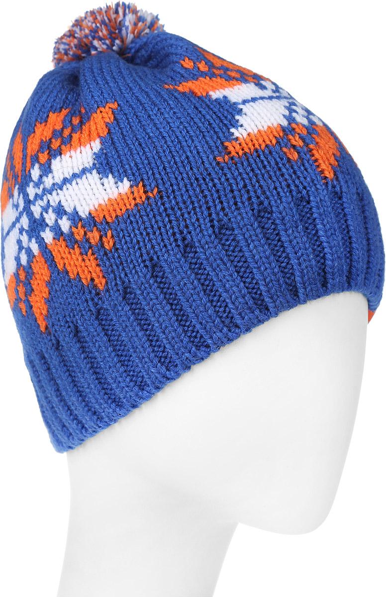 ШапкаMYH6092/2Теплая мужская шапка Marhatter отлично дополнит ваш образ в холодную погоду. Сочетание шерсти и акрила максимально сохраняет тепло и обеспечивает удобную посадку. Подкладка выполнена из мягкого флиса. Стильная двойная шапка с отворотом оформлена контрастным принтом с изображением снежинок. Макушка изделия дополнена небольшим помпоном. Уважаемые клиенты! Размер, доступный для заказа, является обхватом головы.
