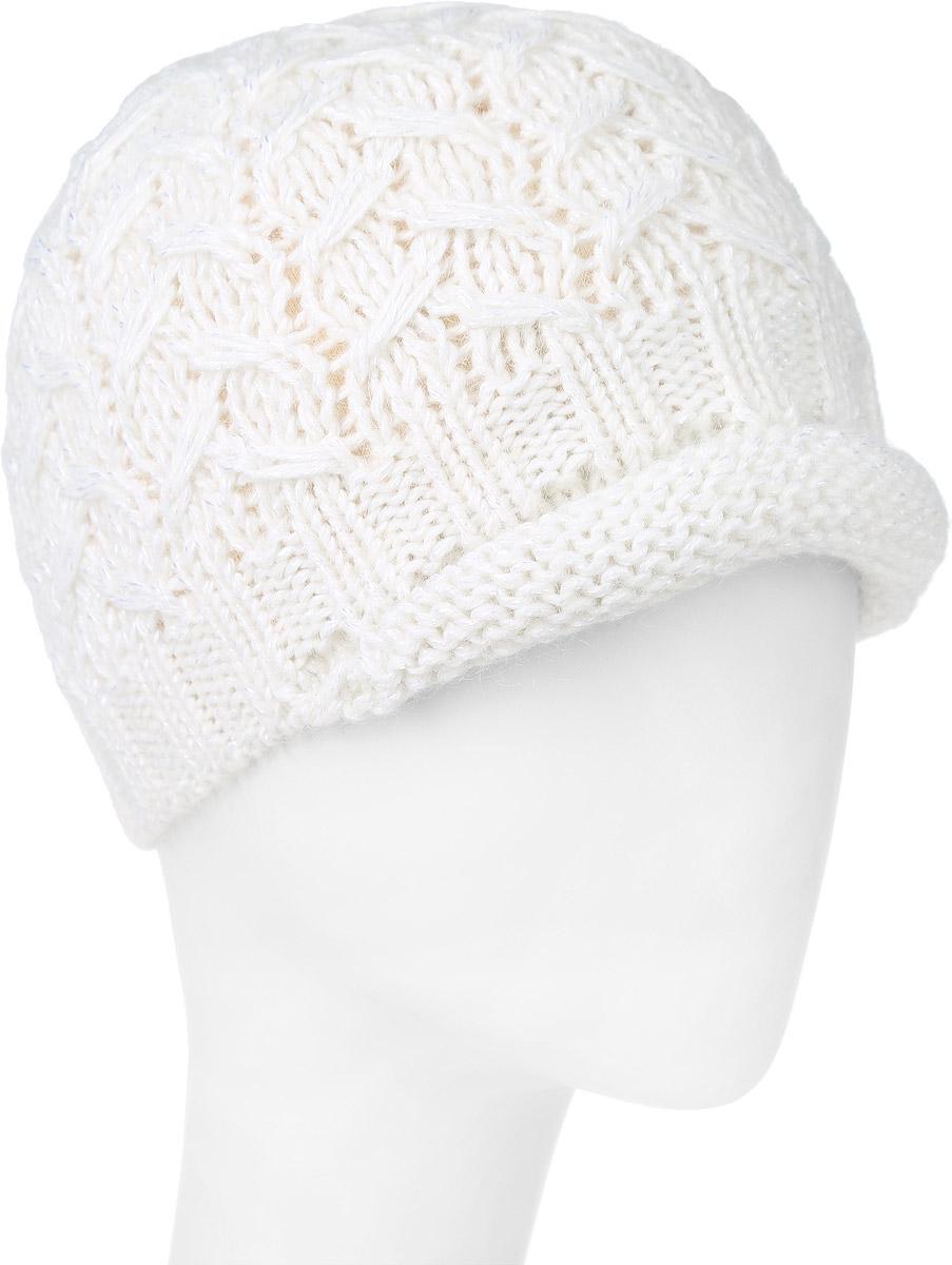 ШапкаMWC5141/2Теплая женская шапка Marhatter отлично дополнит ваш образ в холодную погоду. Сочетание высококачественных материалов максимально сохраняет тепло и обеспечивает удобную посадку. Подкладка выполнена из мягкого флиса. Шапка с небольшим вязанным козырьком оформлена оригинальной вязкой с узорами. Сбоку модель дополнена металлической пластиной с рисунком снежинки. Уважаемые клиенты! Размер, доступный для заказа, является обхватом головы.