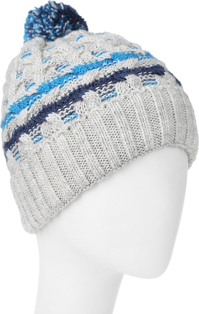 ШапкаMBH6855/2Теплая детская шапка Marhatter отлично дополнит образ вашего ребенка в холодную погоду. Сочетание высококачественных материалов максимально сохраняет тепло и обеспечивает удобную посадку. Подкладка выполнена из мягкого флиса. Шапка оформлена контрастным принтом и вязкой с узорами, дополнена по низу большим отворотом. На макушке оформлена пушистым помпоном. Уважаемые клиенты! Размер, доступный для заказа, является обхватом головы.