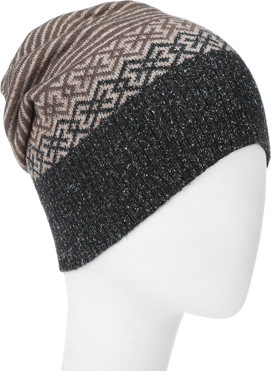 ШапкаMTH5728Теплая мужская шапка Marhatter отлично дополнит ваш образ в холодную погоду. Сочетание высококачественных материалов максимально сохраняет тепло и обеспечивает удобную посадку. Удлиненная шапка дополнена на затылке небольшим ремешком. Модель оформлена контрастным принтом. Уважаемые клиенты! Размер, доступный для заказа, является обхватом головы.