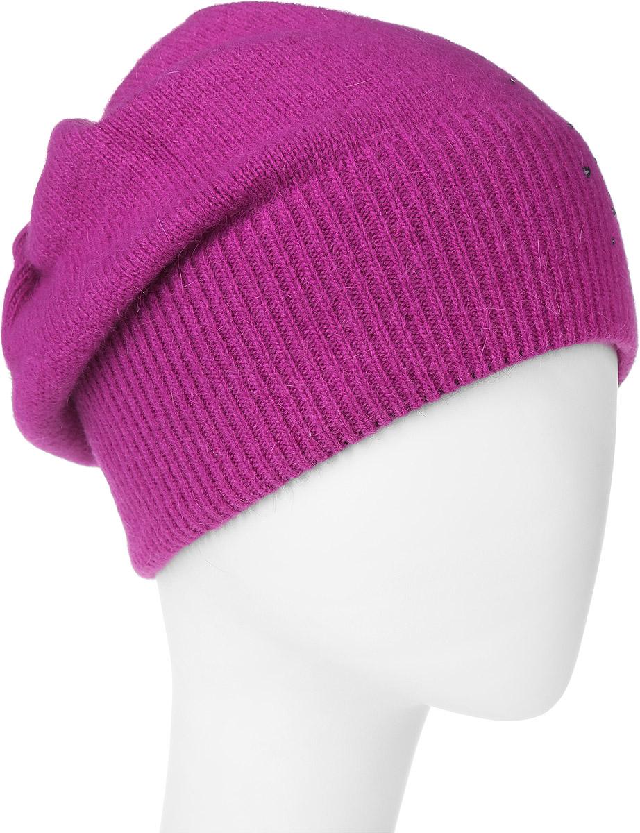 Шапка341916L-15Прекрасная шапка Vittorio Richi, выполненная из натуральной шерсти с добавлением ангоры и полиамида, отлично подойдет для повседневной носки в прохладную погоду. Модель выполнена в однотонном стиле и оформлена стильной выкладкой из блестящих страз. Уважаемые клиенты! Размер, доступный для заказа, является обхватом головы.