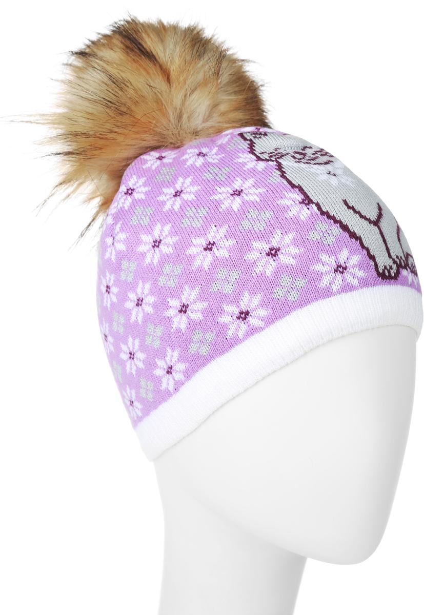 ШапкаRGH6871/2Теплая женская Elfrio шапка, выполненная из 100% акрила, отлично дополнит ваш образ в холодную погоду. Подкладка выполнена из мягкого флиса. Шапка двойная оформлена очаровательным принтом с изображением снежинок и кошечки. На макушке модель дополнена пушистым помпоном из искусственного меха. Модель составит идеальный комплект с модной верхней одеждой, в ней вам будет уютно и тепло. Уважаемые клиенты! Размер, доступный для заказа, является обхватом головы.