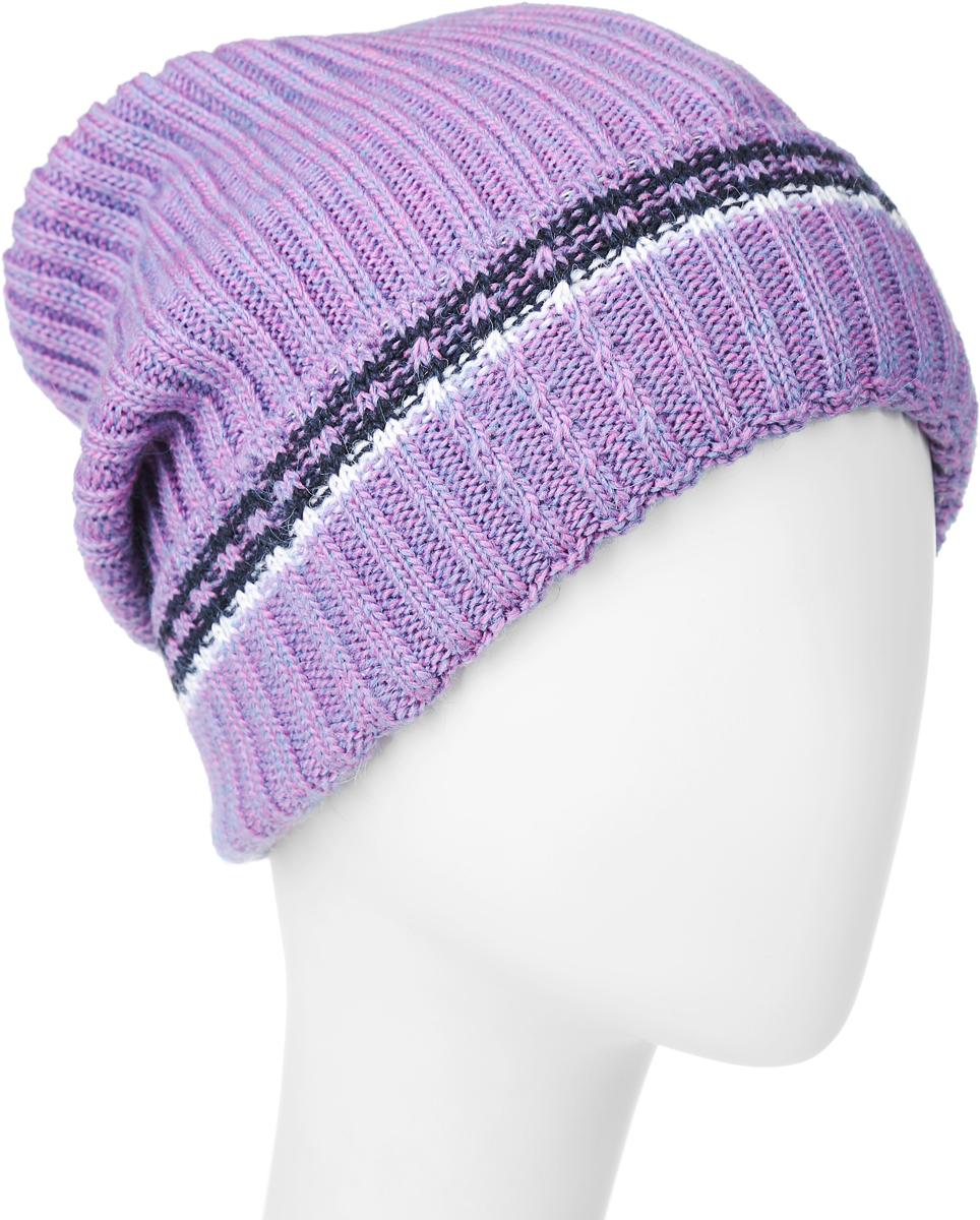 ШапкаRWH6493/2Теплая женская Elfrio шапка, выполненная из 100% акрила, отлично дополнит ваш образ в холодную погоду. Подкладка выполнена из мягкого флиса. Удлиненная шапка имеет небольшой отворот, оформленный контрастными полосками. Модель составит идеальный комплект с модной верхней одеждой, в ней вам будет уютно и тепло. Уважаемые клиенты! Размер, доступный для заказа, является обхватом головы.