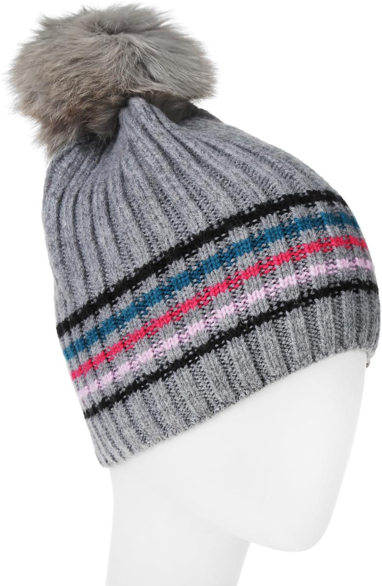 Шапка4374Теплая женская шапка Marhatter отлично дополнит ваш образ в холодную погоду. Сочетание шерсти и акрила максимально сохраняет тепло и обеспечивает удобную посадку, невероятную легкость и мягкость. Подкладка выполнена из мягкого флиса. Шапка оформлена контрастными полосками. Спереди модель дополнена нашивкой с надписью логотипа бренда и металлической пластиной на которой изображена снежинка. Макушка шапки дополнена пушистым помпоном из искусственного меха. Модель составит идеальный комплект с модной верхней одеждой, в ней вам будет уютно и тепло. Уважаемые клиенты! Размер, доступный для заказа, является обхватом головы.