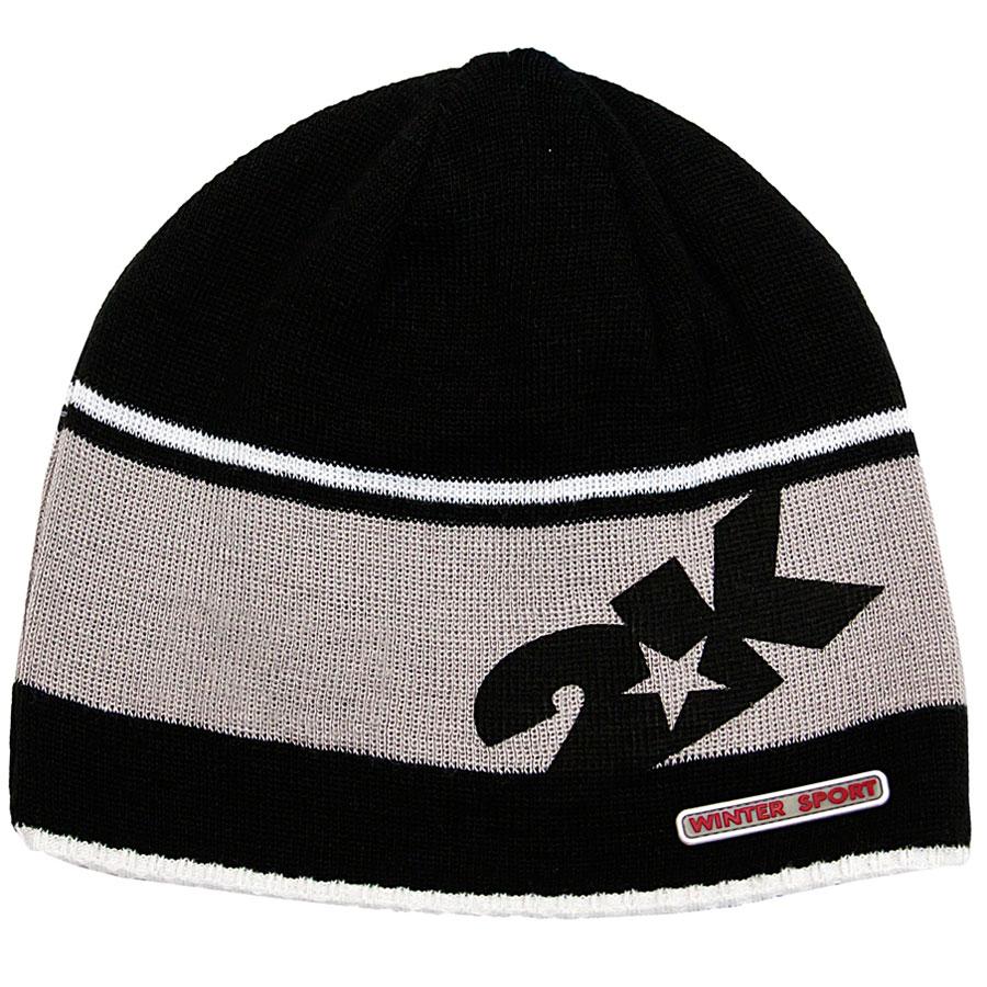 124024_black/green/silverТехнологии плотного плетения нити. Эластичный манжет на нижней части шапки.