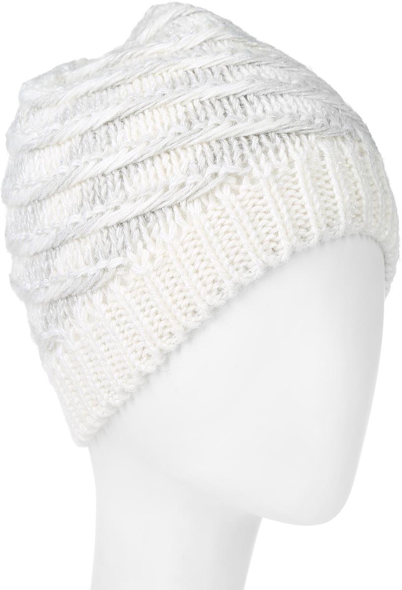 ШапкаSWH5774/2Женская шапка Snezhna выполнена из шерсти, мохера и полиамида, подкладка - из полиэстера. Модель оформлена ажурной вязкой. По низу изделие дополнено вязаной резинкой. Уважаемые клиенты! Размер, доступный для заказа, является обхватом головы.