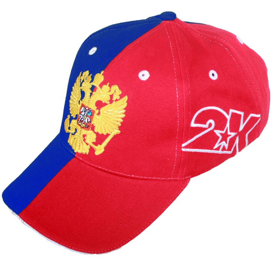 124236n_navy/redКлассическая бейсболка с символикой Россиийской Федерации и с регулируемым ремешком. Состав: 100% хлопок. Плотность бейсболки 200 г/м2. Перфорация для вентиляции воздуха.
