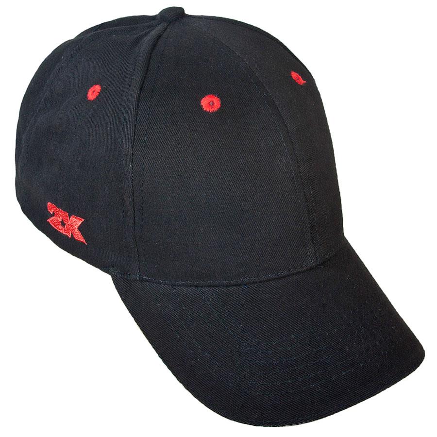 124236_black/redСостав: 100% хлопок. Плотность материала 200 г/м2. Перфорация для вентиляции воздуха. Регулируемый ремешок.