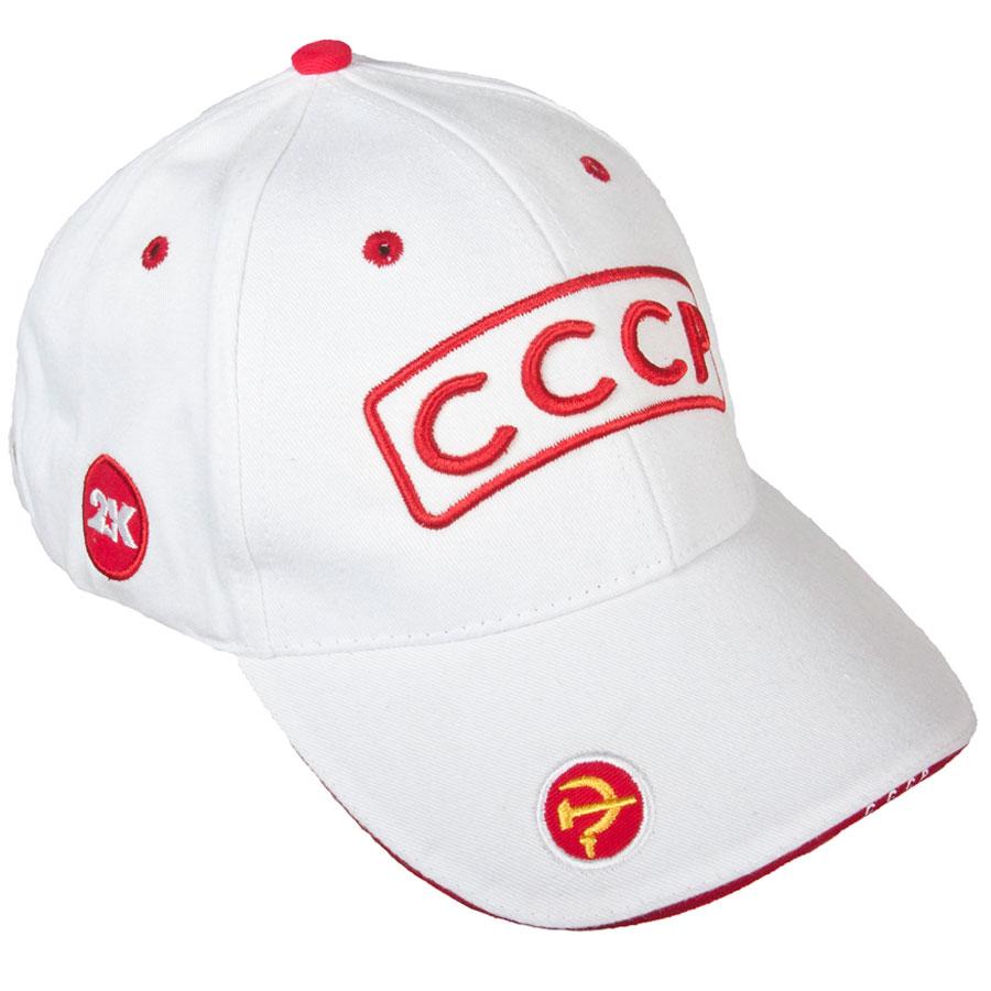 124225_navy/white/redКлассическая бейсболка с символикой СССР и с регулируемым ремешком. Состав: 100% хлопок. Плотность бейсболки 200 г/м2. Перфорация для вентиляции воздуха.