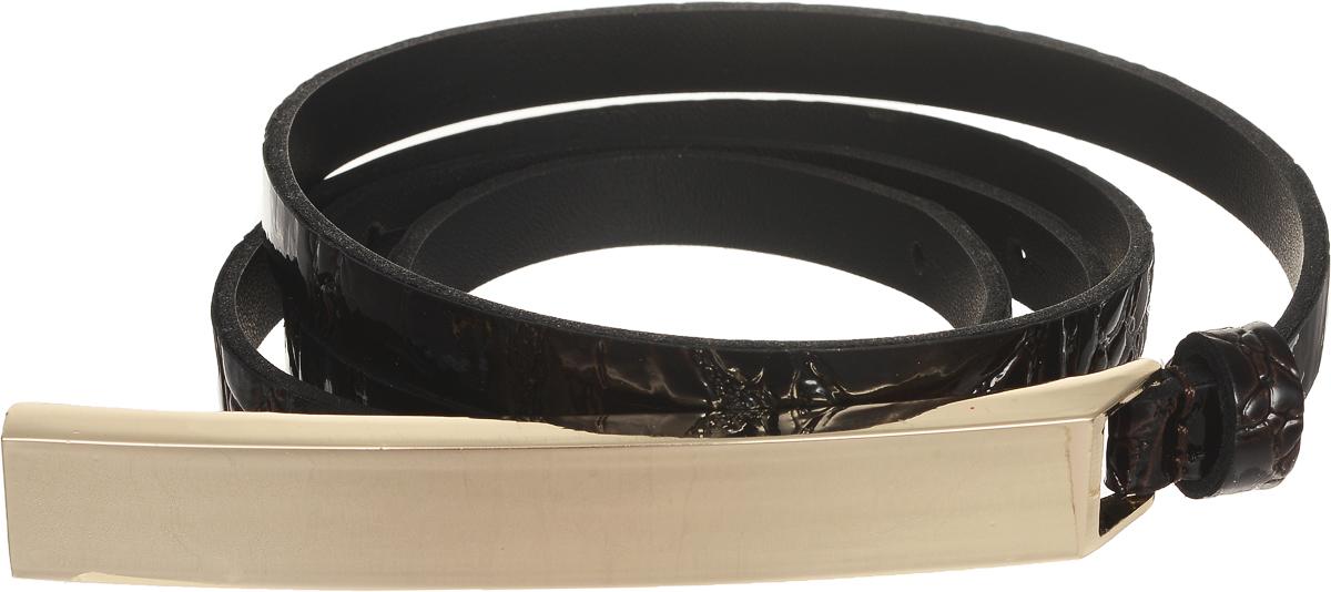 Ремень4411-24/10zЭлегантный тонкий ремень Vittorio Richi выполнен из высококачественной лаковой экокожи с тиснением под рептилию. Металлическая пряжка, оформленная накладкой из экокожи, позволит легко и быстро зафиксировать ремень и отрегулировать его длину. Уважаемые клиенты! Обращаем ваше внимание на тот факт, что размер ремня, доступный для заказа, является его длиной.