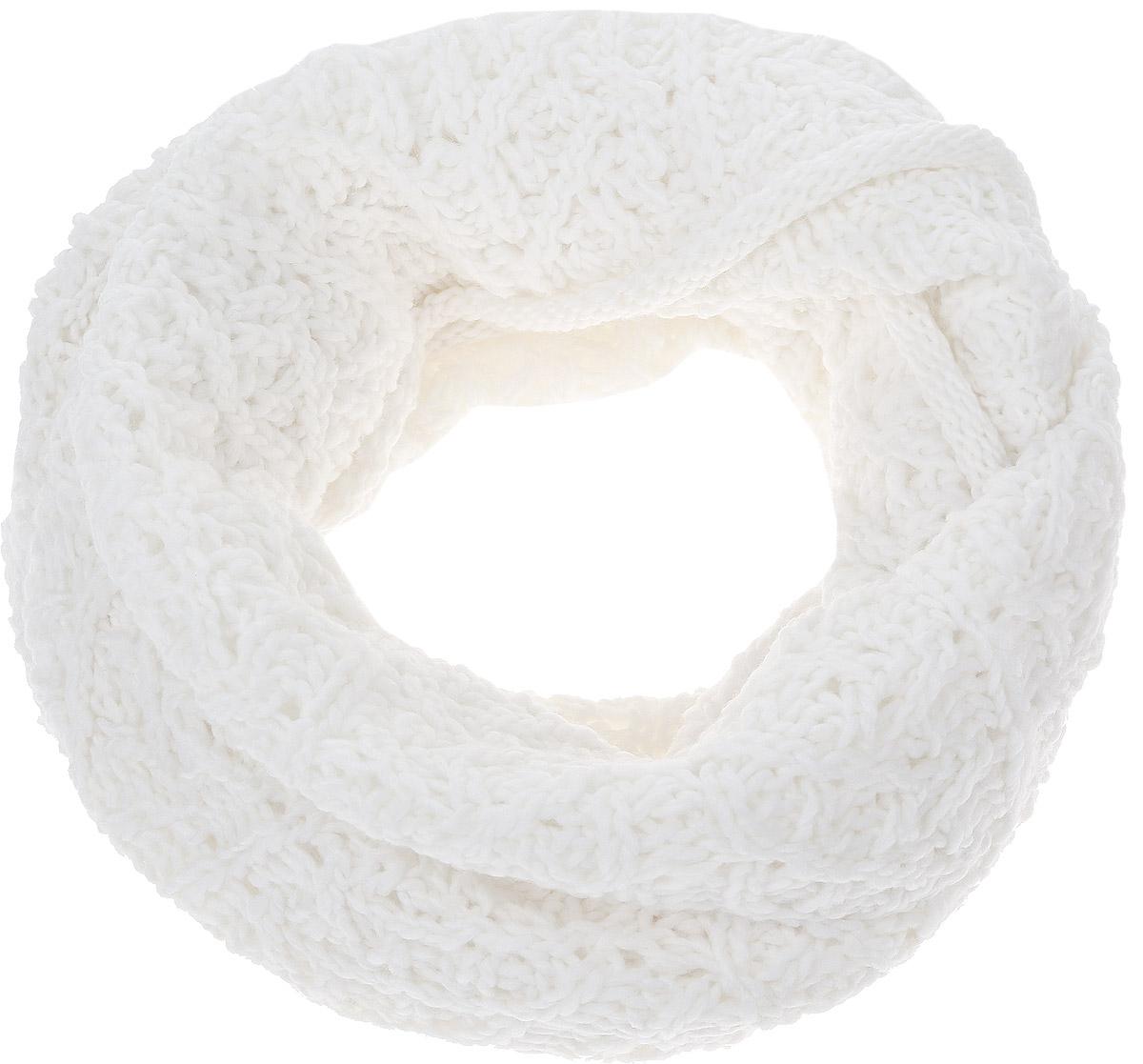 Снуд-хомут44452/2Женский вязаный снуд-хомут Snezhna выполнен из сочетания высококачественного акрила и теплой шерсти, отлично подойдет для повседневной носки в прохладную погоду. Модель связана кольцом и выполнена оригинальной узорчатой вязкой. Изделие мягко драпируется и красиво распределяется в области шеи.