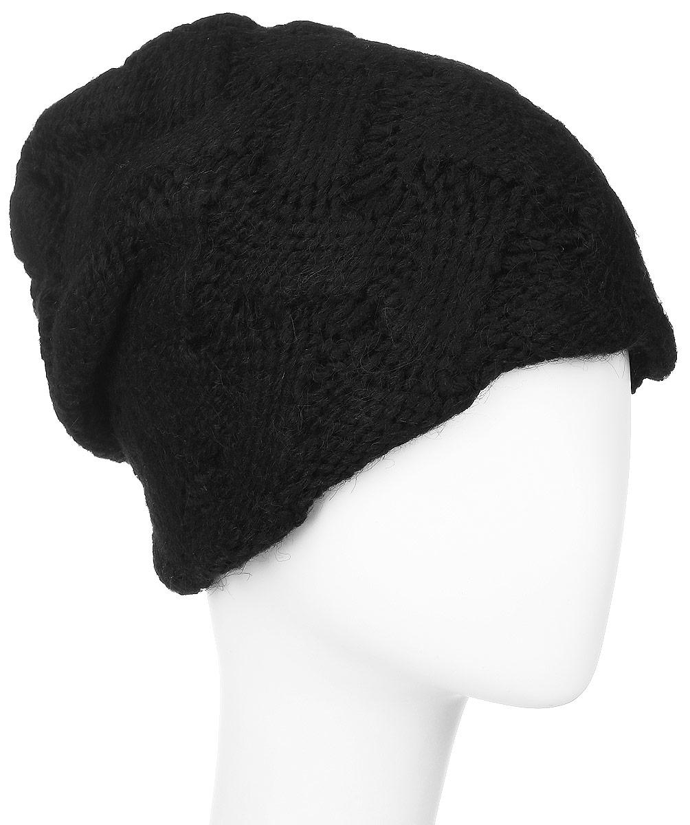 Шапка341907V-85Женская шапка Vittorio Richi выполнена из сочетания шерсти и акрила. Оформлена модель объемной ажурной вязкой. Уважаемые клиенты! Размер, доступный для заказа, является обхватом головы.