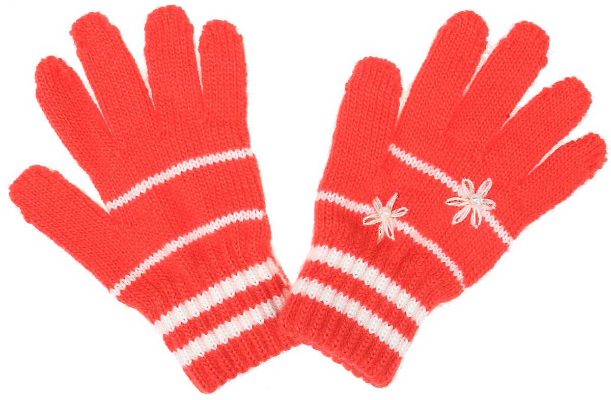 Перчатки детскиеGloria-22Уютные перчатки для девочки Margot Bis Gloria идеально подойдут для прогулок в прохладное время года. Изготовленные из высококачественного акрила, очень мягкие и приятные на ощупь и хорошо сохраняют тепло. Стильные перчатки оформлены контрастными полосками и украшены небольшими вышитыми цветочками с бусинками. Верх модели на мягкой резинке, которая не стягивает запястья и надежно фиксирует перчатки на ручках ребенка.