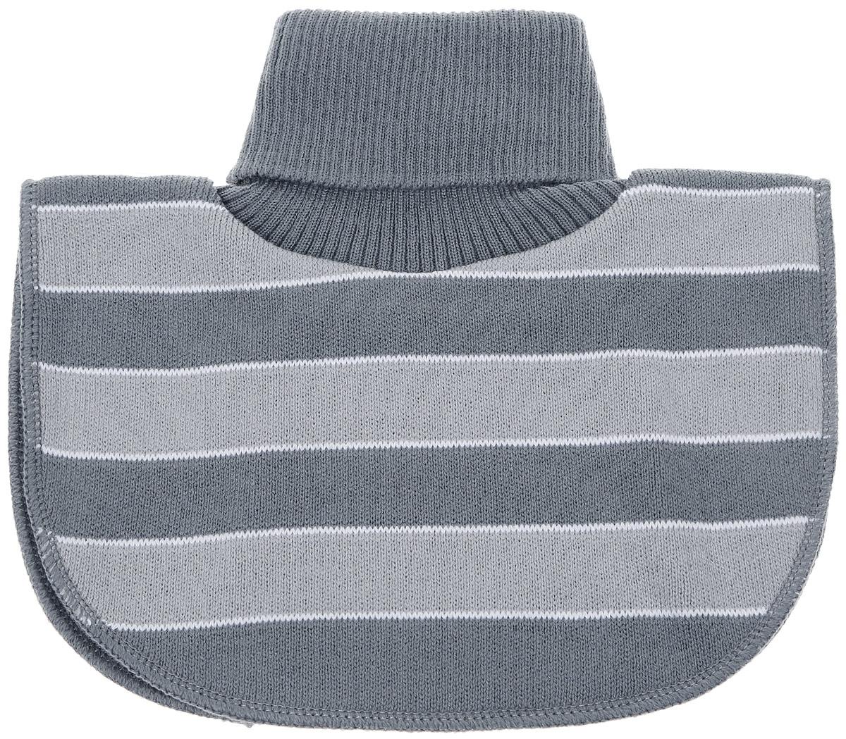 MM2616-22Модная вязаная манишка для мальчика ПриКиндер - удобный и теплый заменитель шарфа в виде большого воротника, закрывающего шею, идеально подойдет вашему ребенку. Изготовлена модель из акрила с добавлением шерсти, подкладка выполнена из хлопка с добавлением лайкры. Манишка имеет высокий воротник-гольф.