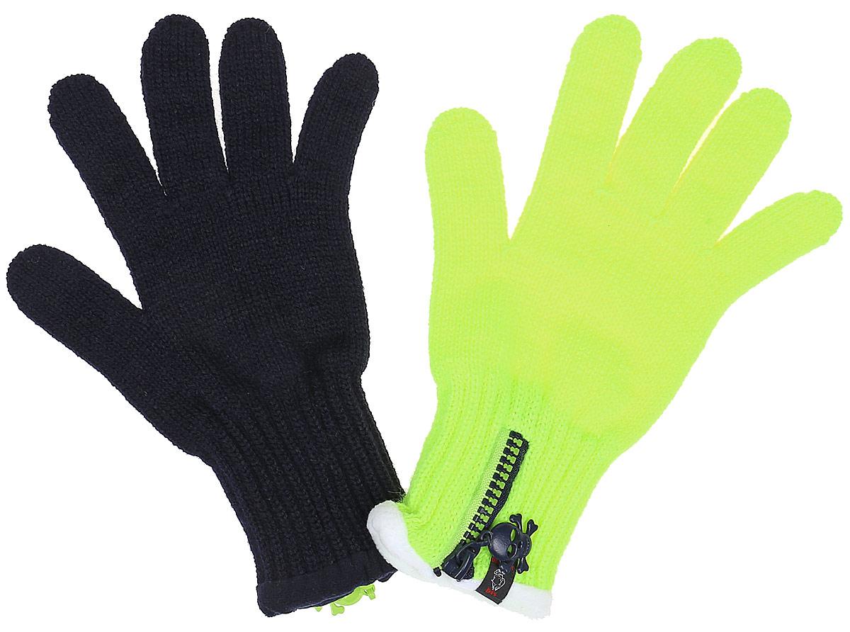 Перчатки детскиеFUNNY-22Вязаные перчатки для девочки Margot Bis Funny идеально подойдут для прогулок в прохладное время года. Изготовленные из 100% акрила, они необычайно мягкие и приятные на ощупь. Внутри на запястье флисовая подкладка. Изделие дополнено широкими эластичными манжетами, не стягивающими запястья и надежно фиксирующими их на ручках ребенка. Манжеты связаны резинкой. Дополнены перчатки застежкой-молнией. Современный дизайн и контрастная расцветка делают эти перчатки модным и стильным предметом детского гардероба.