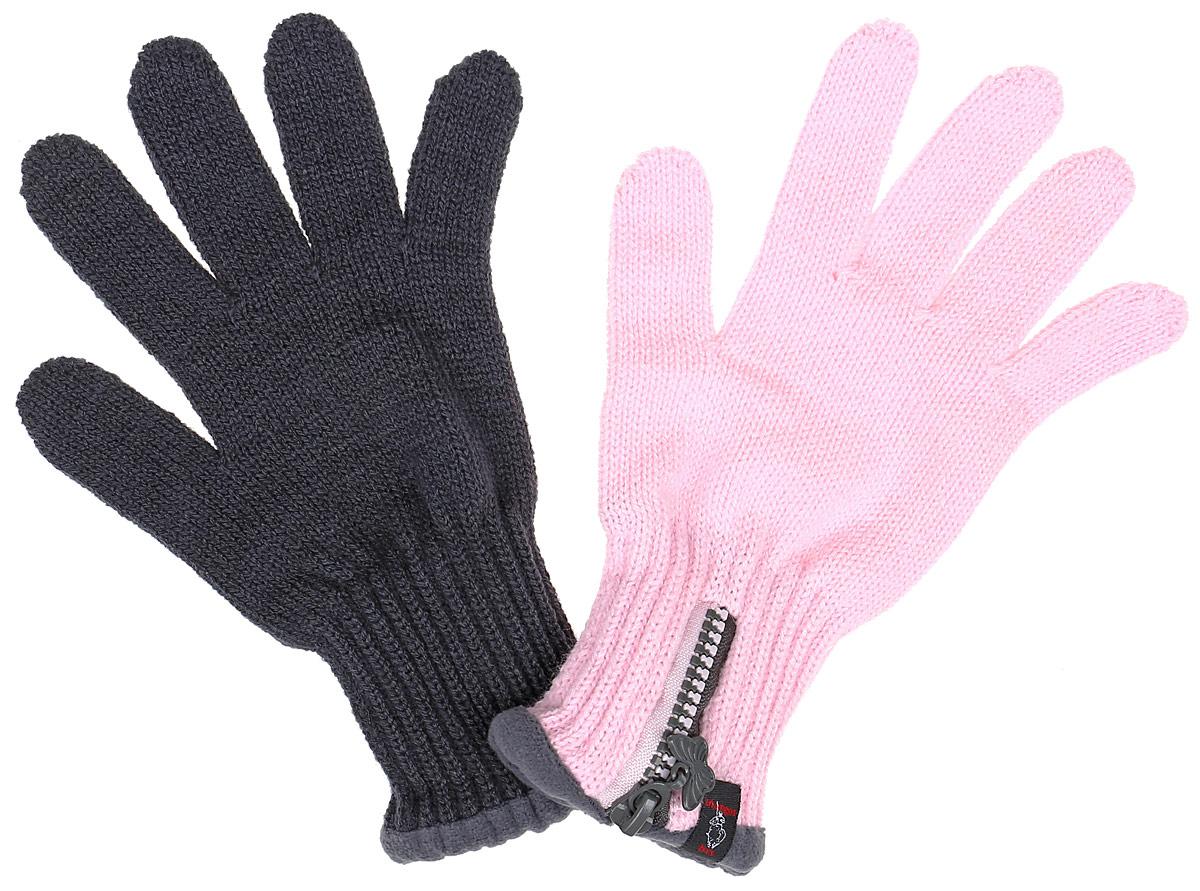 FUNNY-22Вязаные перчатки для девочки Margot Bis Funny идеально подойдут для прогулок в прохладное время года. Изготовленные из 100% акрила, они необычайно мягкие и приятные на ощупь. Внутри на запястье флисовая подкладка. Изделие дополнено широкими эластичными манжетами, не стягивающими запястья и надежно фиксирующими их на ручках ребенка. Манжеты связаны резинкой. Дополнены перчатки застежкой-молнией. Современный дизайн и контрастная расцветка делают эти перчатки модным и стильным предметом детского гардероба.