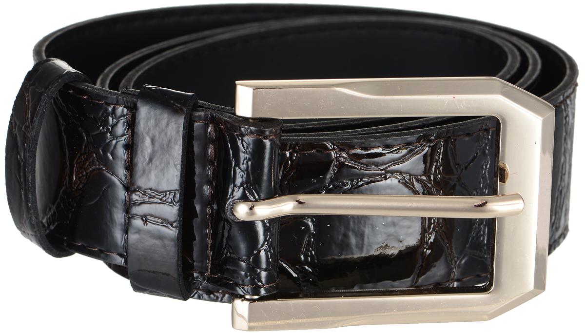 Ремень4411-13/40zСтильный широкий ремень Vittorio Richi выполнен из высококачественной лаковой экокожи с тиснением под рептилию. Пряжка, выполненная из металла, позволит легко и быстро зафиксировать ремень и отрегулировать его длину. Уважаемые клиенты! Обращаем ваше внимание на тот факт, что размер ремня, доступный для заказа, является его длиной.