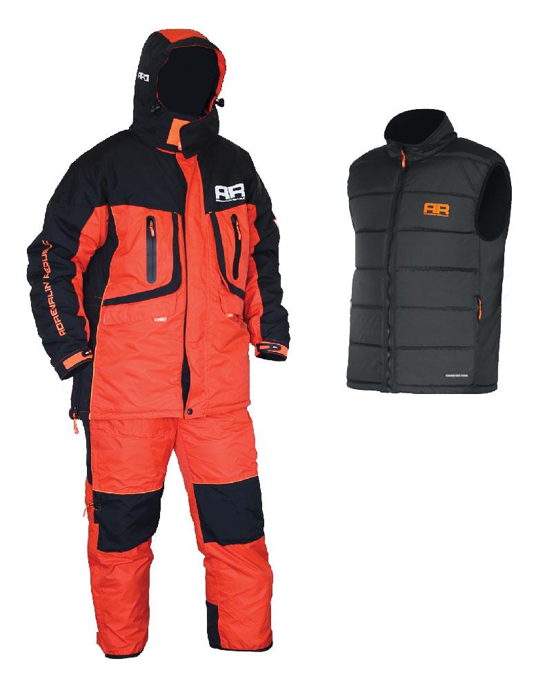 Костюм рыболовныйEvergulf 3in1Костюм разработан на базе отлично зарекомендовавшей себя модели ROVER, выполнен в яркой гамме и предназначен для температур до -25 градусов. Главной особенностью данной модели является наличие плавающего жилета в комплекте с костюмом. Благодаря использованию системы застежек-молний плавающий жилет легко и просто пристегивается к основной куртке для страховки в случае падения в воду. Костюм Adrenalin Republic EVERGULF 3in1 Floating - надежная защита от холода, а также отличная страховка на зимней рыбалке! Особенности пристегиваемого плавающего жилета: - Можно носить как отдельно, так и пристегнутым к основной куртке; - Специальный материал наполнителя жилета способен удержать человека на поверхности воды. Материал: Водонепроницаемость 5000 мм Дышащая способность материала: 7000 г/м2/24 час Утеплитель куртка/брюки: 200/150 г/м2