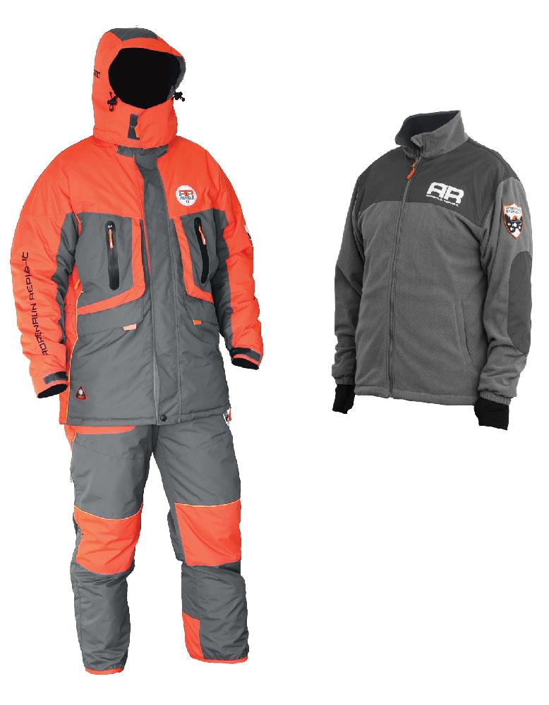 Костюм рыболовныйEvo 3in1Костюм разработан на базе отлично зарекомендовавшей себя модели ROVER, выполнен в новой цветовой гамме и предназначен для температур до -40 градусов. Отличительной особенностью данной модели является наличие теплой флисовой куртки в комплекте с костюмом. Благодаря использованию системы застежек-молний, носимая отдельно флисовая куртка из этого комплекта легко и просто пристегивается к основной куртке для дополнительного удобства и возможности ношения в качестве зимней подстежки. В костюме Adrenalin Republic EVO 3in1 вы можете спокойно находится на свежем воздухе даже в самый лютый мороз, не боясь замерзнуть. Водонепроницаемость: 7000 мм Дышащая способность материала: 10000 г/м2 Утеплитель куртка/брюки: 250/200 г/м2 Особенности пристегиваемой флисовой куртки: - Можно носить как отдельно, так и пристегнутой к основной куртке; - Внутренняя вставка-манжет с прорезью для большого пальца препятствует сползанию рукава; - Декоративные вставки из...