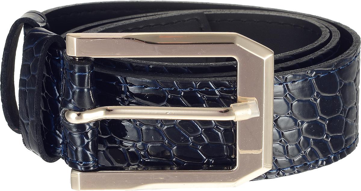 Ремень4412-14/40zСтильный широкий ремень Vittorio Richi выполнен из высококачественной лаковой экокожи с тиснением под рептилию. Пряжка, выполненная из металла, позволит легко и быстро зафиксировать ремень и отрегулировать его длину. Уважаемые клиенты! Обращаем ваше внимание на тот факт, что размер ремня, доступный для заказа, является его длиной.