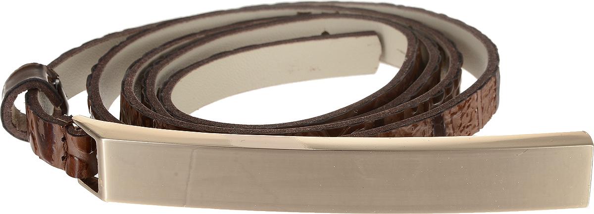 Ремень4407-24/10zЭлегантный тонкий ремень Vittorio Richi выполнен из высококачественной лаковой экокожи с тиснением под рептилию. Пряжка, выполненная из металла, позволит легко и быстро зафиксировать ремень и отрегулировать его длину. Уважаемые клиенты! Обращаем ваше внимание на тот факт, что размер ремня, доступный для заказа, является его длиной.