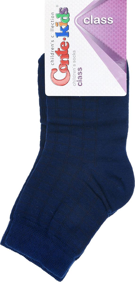 Носки15529Удобные носочки Conte-Kids Class изготовлены из хлопка с добавлением полиамида и эластана. Ткань очень мягкая и тактильно приятная, позволяет коже дышать. Эластичная резинка мягко облегает ножку ребенка. Такие носочки подарят вашему ребенку тепло и комфорт!