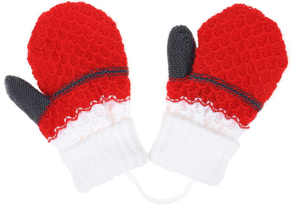 LULU-22Детские варежки Margot Bis Lulu, выполненные из высококачественного акрила, согреют руки в прохладное время года. Варежки дополнены широкими трикотажными манжетами, не стягивающими запястья и надежно фиксирующими варежки на руках ребенка. А также чтобы варежки не потерялись, изделие дополнено текстильным шнурком. Модель оформлена стильной вязкой с узором и оригинальным принтом.