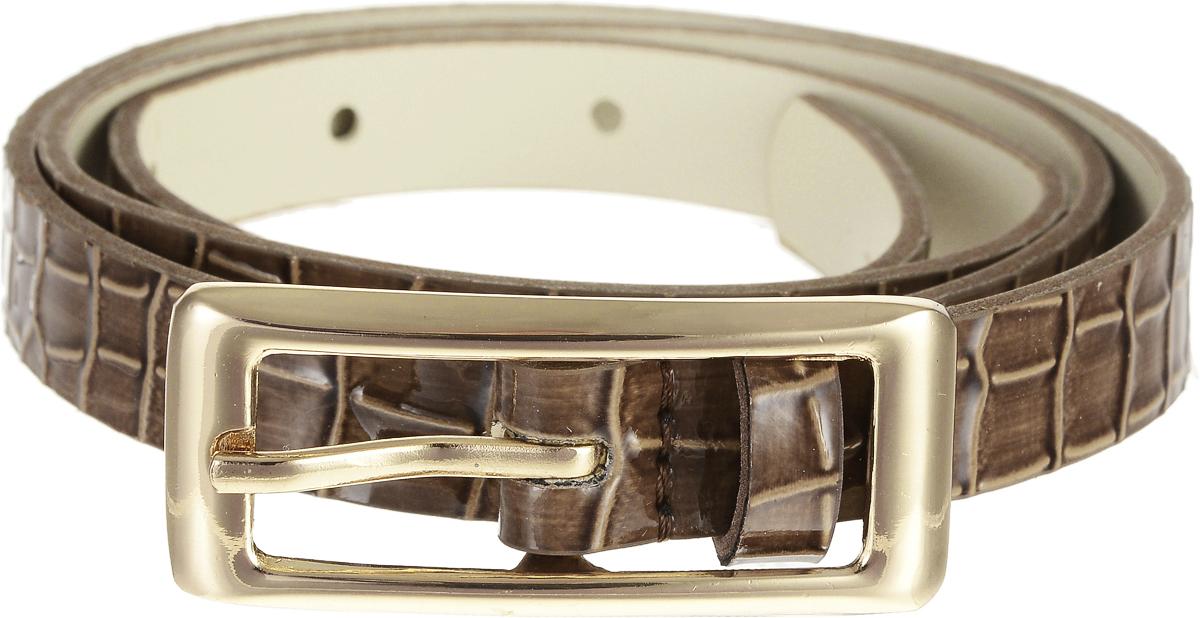 Ремень4415-22/15zЭлегантный тонкий ремень Vittorio Richi выполнен из высококачественной лаковой экокожи с тиснением под рептилию. Пряжка, выполненная из металла, позволит легко и быстро зафиксировать ремень и отрегулировать его длину. Уважаемые клиенты! Обращаем ваше внимание на тот факт, что размер ремня, доступный для заказа, является его длиной.
