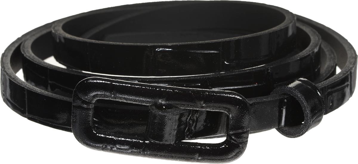 Ремень2218-1/10Элегантный тонкий ремень Vittorio Richi выполнен из высококачественной лаковой экокожи с тиснением под рептилию. Металлическая пряжка, оформленная накладкой из экокожи, позволит легко и быстро зафиксировать ремень и отрегулировать его длину. Уважаемые клиенты! Обращаем ваше внимание на тот факт, что размер ремня, доступный для заказа, является его длиной.