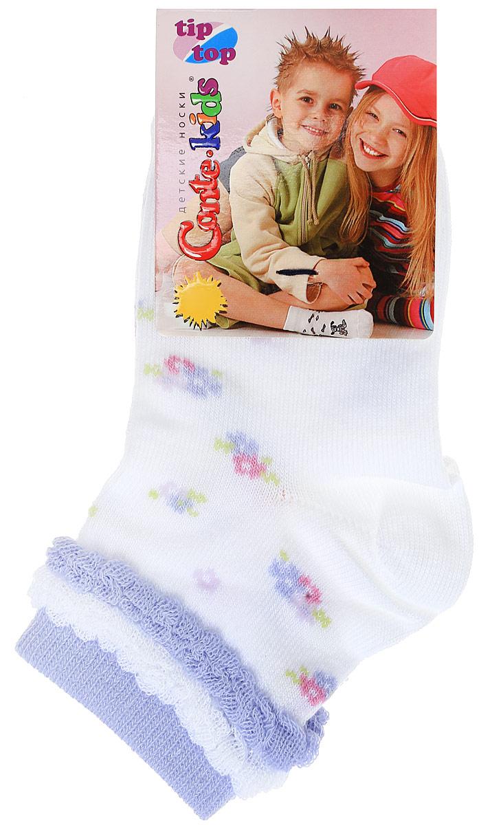 TIPTOP18901Удобные носочки для девочки Conte-Kids Kids Tip-Top изготовлены из высококачественных материалов. Ткань очень мягкая и тактильно приятная, позволяет коже дышать. Эластичная резинка мягко облегает ножку ребенка. Модель оформлена интересным цветочным принтом. Такие носочки подарят вашему ребенку тепло и комфорт!