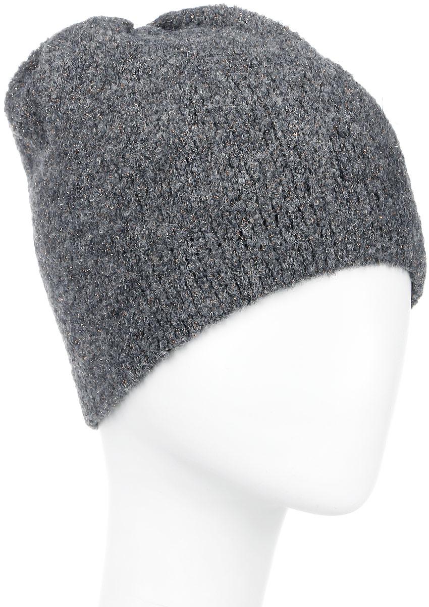 SWH5867Женская шапка Snezhna отлично подойдет для модниц в прохладное время года. Изготовленная из высококачественных материалов с использованием металлизированной нити, она мягкая и приятная на ощупь, обладает хорошими дышащими свойствами и максимально удерживает тепло. Изделие оформлено аппликацией в виде страз. Такой стильный и теплый аксессуар дополнит ваш образ и подчеркнет индивидуальность! Уважаемые клиенты! Размер, доступный для заказа, является обхватом головы.