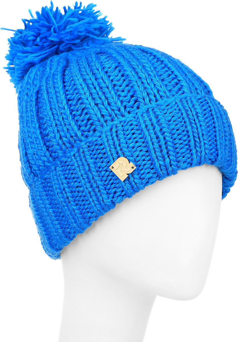 ШапкаICE 8186Теплая шапка R.Mountain выполнена из сочетания высококачественного акрила и теплой шерсти. Шапка с толстым вязанным отворотом на макушке дополнена пушистым помпоном. На отвороте модель оформлена деревянной нашивкой с логотипом бренда. Уважаемые клиенты! Размер, доступный для заказа, является обхватом головы.