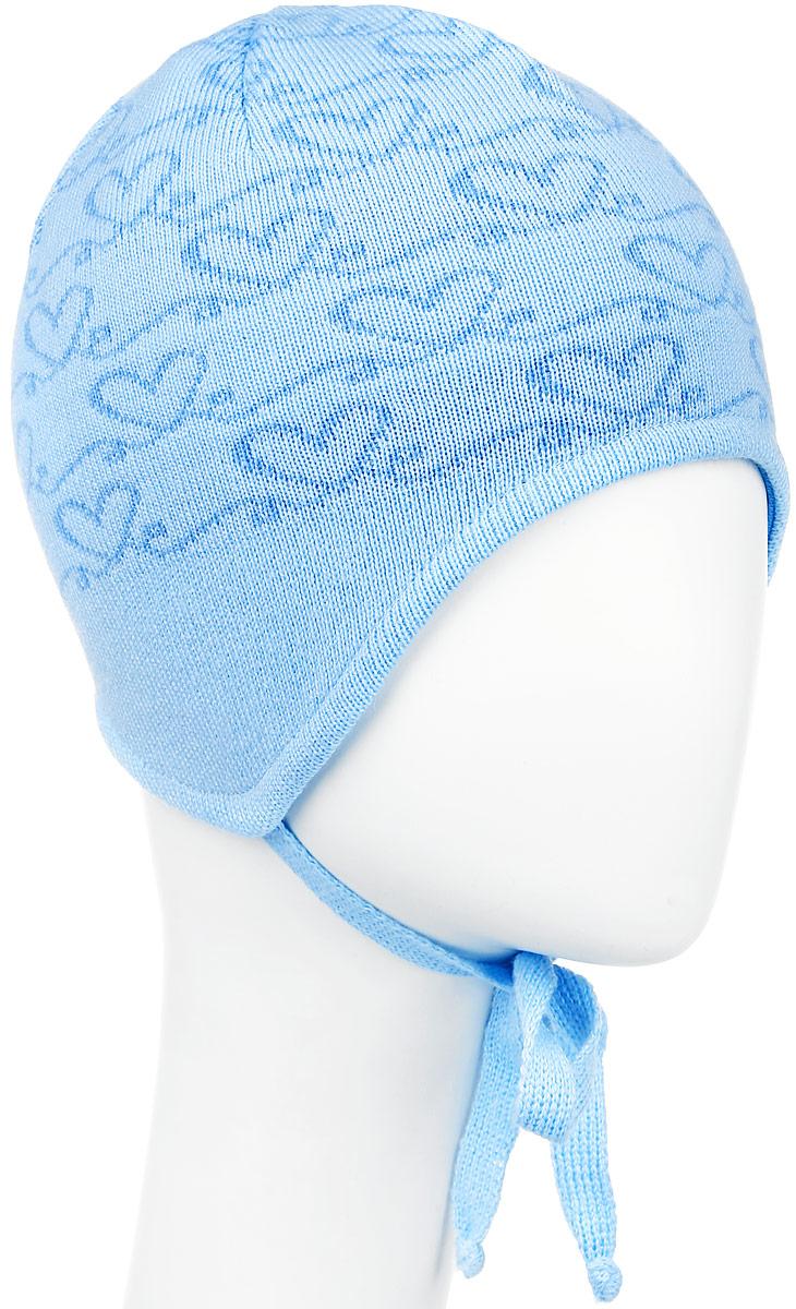 Шапка детскаяD2674-22Теплая шапка для девочки ПриКиндер выполнена из сочетания высококачественных материалов. Подкладка выполнена из хлопка с добавлением лайкры. Шапка оформлена контрастным принтом и выкладкой сердечка из блестящих страз. По бокам модель имеет удлиненные ушки на завязочках. Уважаемые клиенты! Размер, доступный для заказа, является обхватом головы.