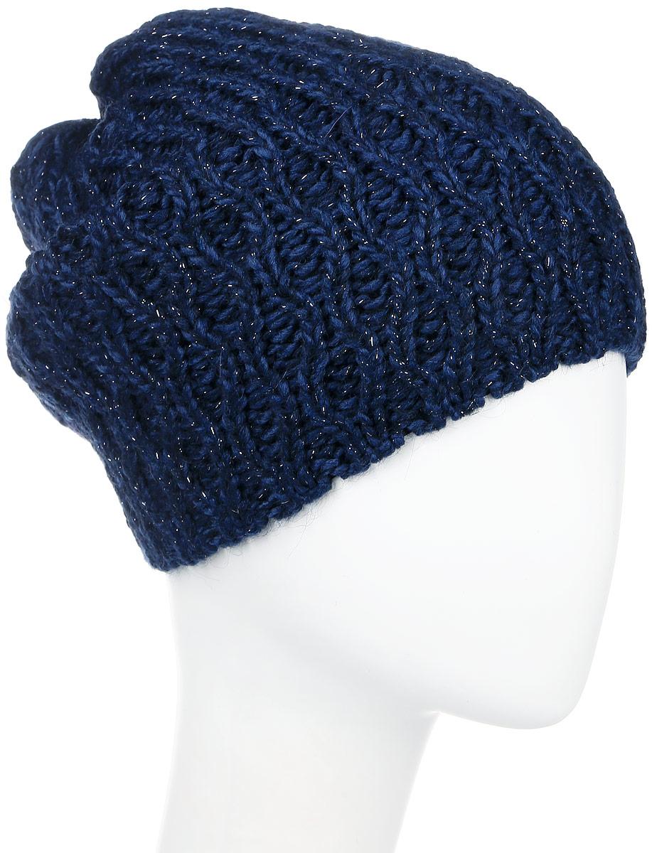 ШапкаMWH6292/2Теплая шапка Marhatter выполнена из высококачественного акрила и теплой шерсти. Подкладка выполнена из мягкого флиса. Удлиненная двойная шапка оформлена крупной вязкой и дополнена блестящим люрексом. Уважаемые клиенты! Размер, доступный для заказа, является обхватом головы.