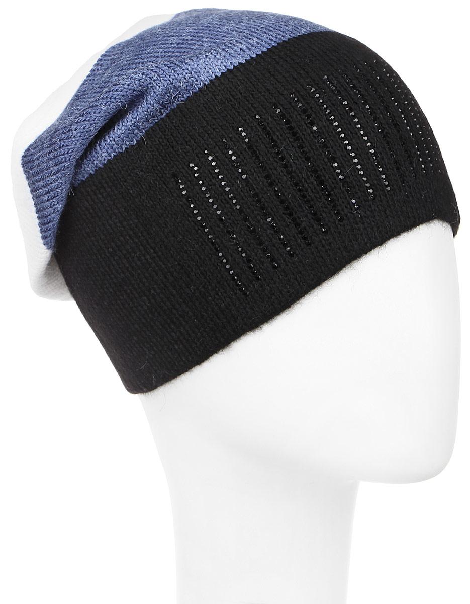Штрих-22Теплая шапка для девочки Concept выполнена из сочетания высококачественного акрила и теплой шерсти. Удлиненная шапка оформлена принтом в полоску и дополнена выкладкой из блестящих страз. Уважаемые клиенты! Размер, доступный для заказа, является обхватом головы.