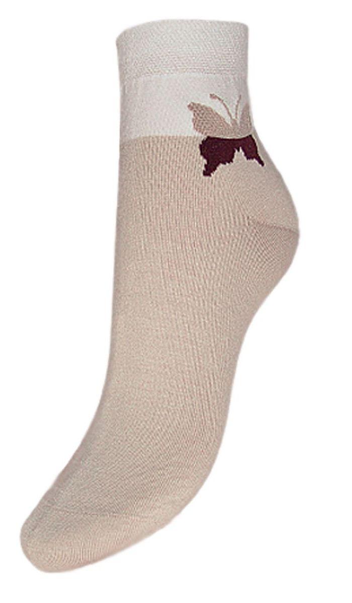 SCL24Женские носки Гранд выполнены из высококачественного хлопка, предназначены для повседневной носки. Носки с бесшовной технологией зашивки мыска (кеттельный шов), оформленные на паголенке текстурным рисунком бабочка, изготовлены по европейским стандартам из лучшей гребенной пряжи, хорошо держат форму и обладают повышенной воздухопроницаемостью, имеют безупречный внешний вид, усиленные пятку и мысок для повышенной износостойкости, после стирки не меняют цвет. Благодаря свойствам эластана, не теряют первоначальный вид. Носки произведены по европейским стандартам на современных итальянских вязальных автоматах Busi Giovanni.