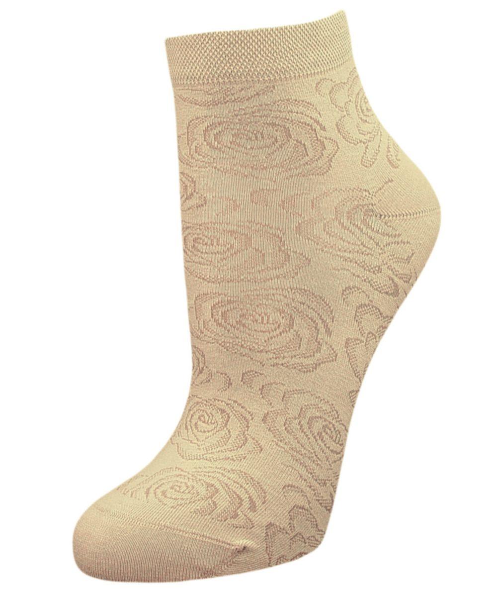 НоскиSCL37Женские носки Гранд выполнены из высококачественного хлопка, предназначены для повседневной носки. Укороченные носки оформлены рисунком розочки. Носки долгое время сохраняют форму и цвет, а так же обладают антибактериальными и терморегулирующими свойствами.