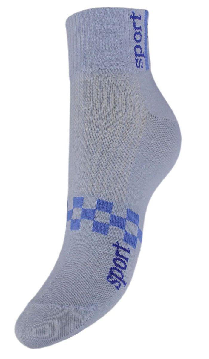 SCL55Женские укороченные носки Гранд выполнены из высококачественного хлопка. Носки, оформленные на паголенке надписью sport, изготовлены по европейским стандартам из самой лучшей гребенной пряжи, имеют усиленные пятку и мысок для повышенной износостойкости. Функция отвода влаги позволяет сохранить ноги сухими. Благодаря свойствам эластана, не теряют первоначальный вид. Носки долгое время сохраняют форму и цвет, а так же обладают антибактериальными и терморегулирующими свойствами.