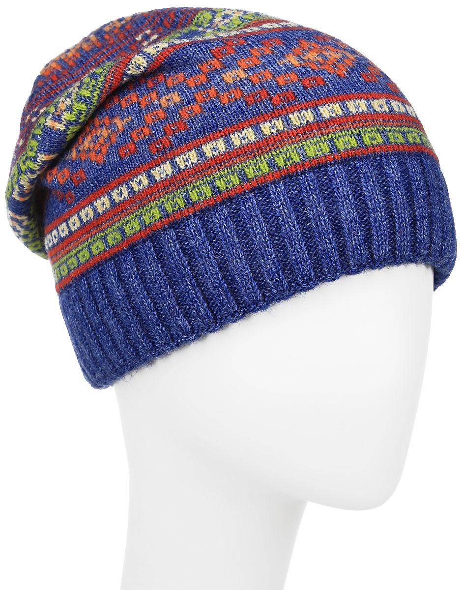 Шапка361286D-42/05Теплая женская шапка Vittorio Richi отлично дополнит ваш образ в холодную погоду. Сочетание шерсти и полиамида сохраняет тепло и обеспечивает удобную посадку, невероятную легкость и мягкость. Удлиненная шапка оформлена абстрактным принтом и по низу дополнена вязанной резинкой. Модель составит идеальный комплект с модной верхней одеждой, в ней вам будет уютно и тепло. Уважаемые клиенты! Размер, доступный для заказа, является обхватом головы.