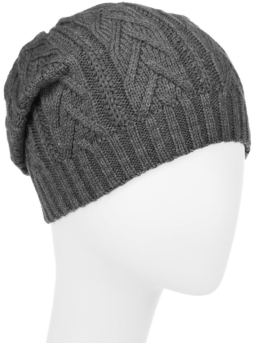 ШапкаRLH6648Женская шапка Elfrio выполнена из акрила. Модель оформлена вязкой-косичкой. Изделие по низу дополнено вязаной резинкой. Уважаемые клиенты! Размер, доступный для заказа, является обхватом головы.