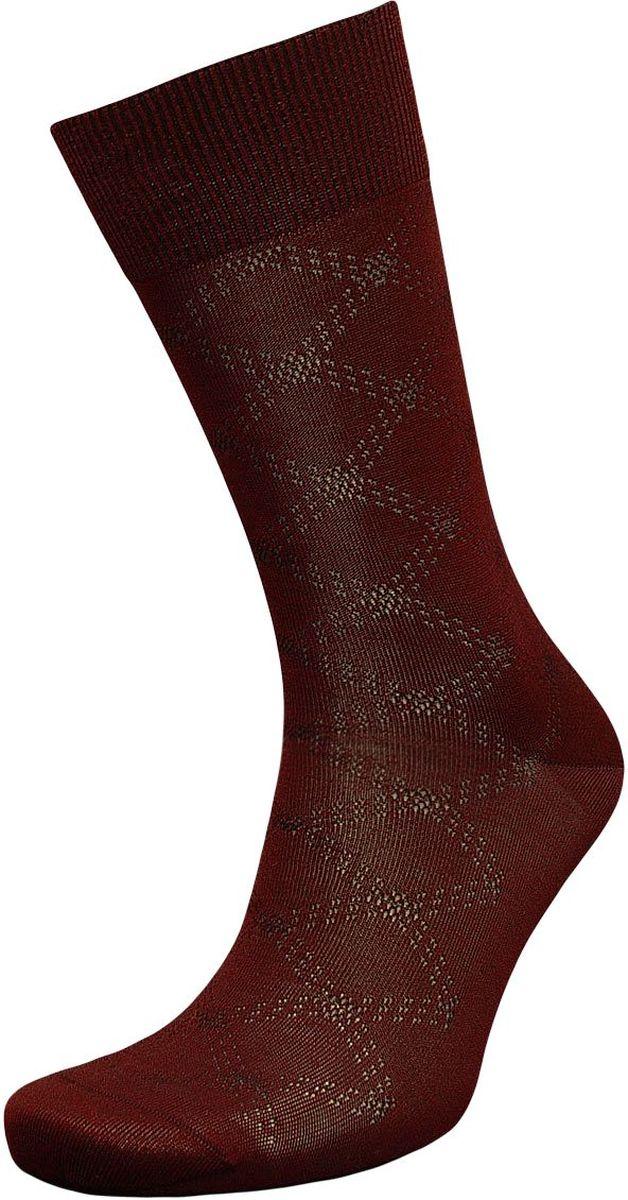 ZCmr101Мужские носки Гранд изготовлены из высококачественного хлопка с добавлением полиамидных и эластановых волокон, они обладают повышенной воздухопроницаемостью, не садятся и не деформируются. Изделие выполнено с помощью бесшовной технологии и дополнено рисунком. Мягкая анатомическая резинка идеально облегает ногу. Мысок и пятка усилены. В комплект входят две пары носков.
