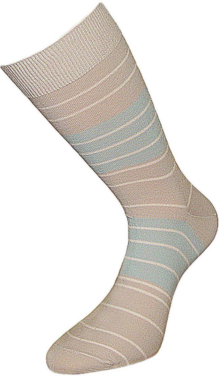 НоскиZC10Мужские носки Гранд изготовлены из высококачественного хлопка с добавлением полиамидных и эластановых волокон, они обладают антибактериальными и теплоизолирующими свойствами, хорошо впитывают влагу, не садятся и не деформируются. Модель оформлена принтом в полоску. Пятка и мысок усилены. В комплект входят две пары носков.