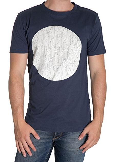Футболка22004491_Dress BluesМужская футболка Only & Sons с короткими рукавами и круглым вырезом горловины выполнена из натурального хлопка. Футболка украшена крупным геометрическим принтом спереди.