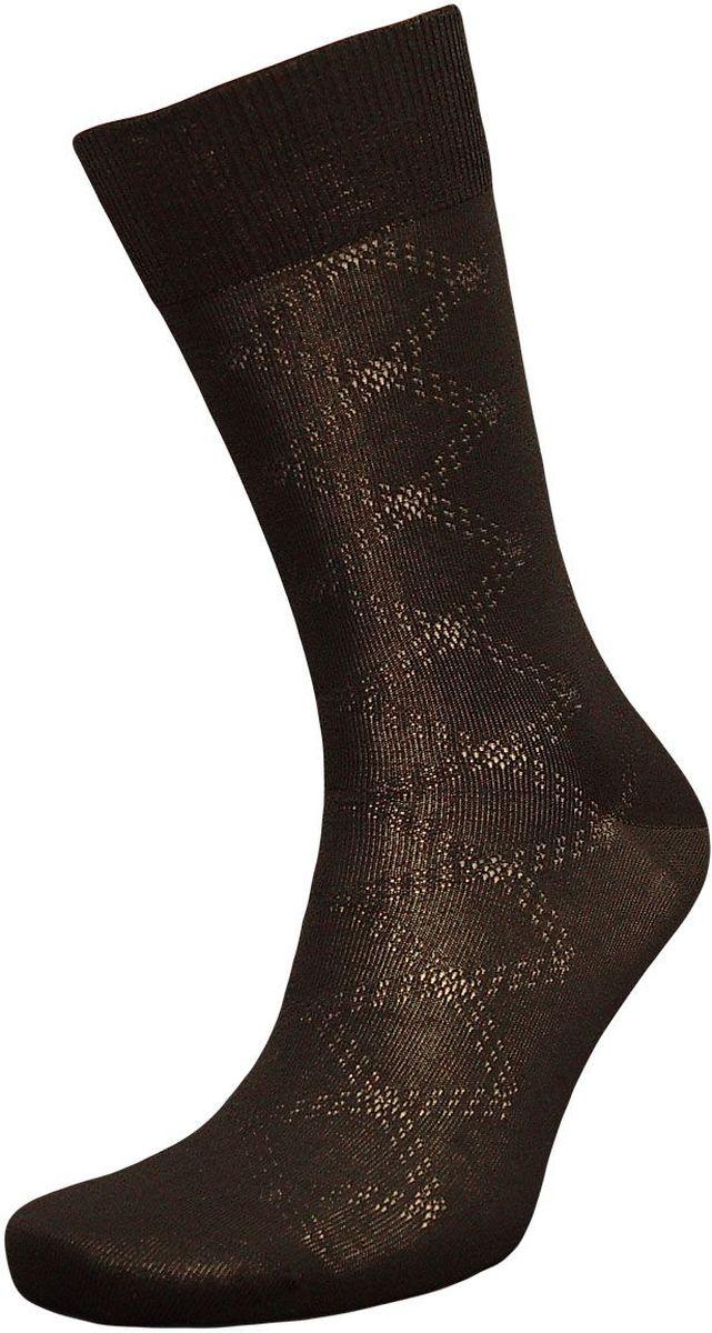 НоскиZCmr101Мужские носки Гранд изготовлены из высококачественного хлопка с добавлением полиамидных и эластановых волокон, они обладают повышенной воздухопроницаемостью, не садятся и не деформируются. Изделие выполнено с помощью бесшовной технологии и дополнено рисунком. Мягкая анатомическая резинка идеально облегает ногу. Мысок и пятка усилены. В комплект входят две пары носков.