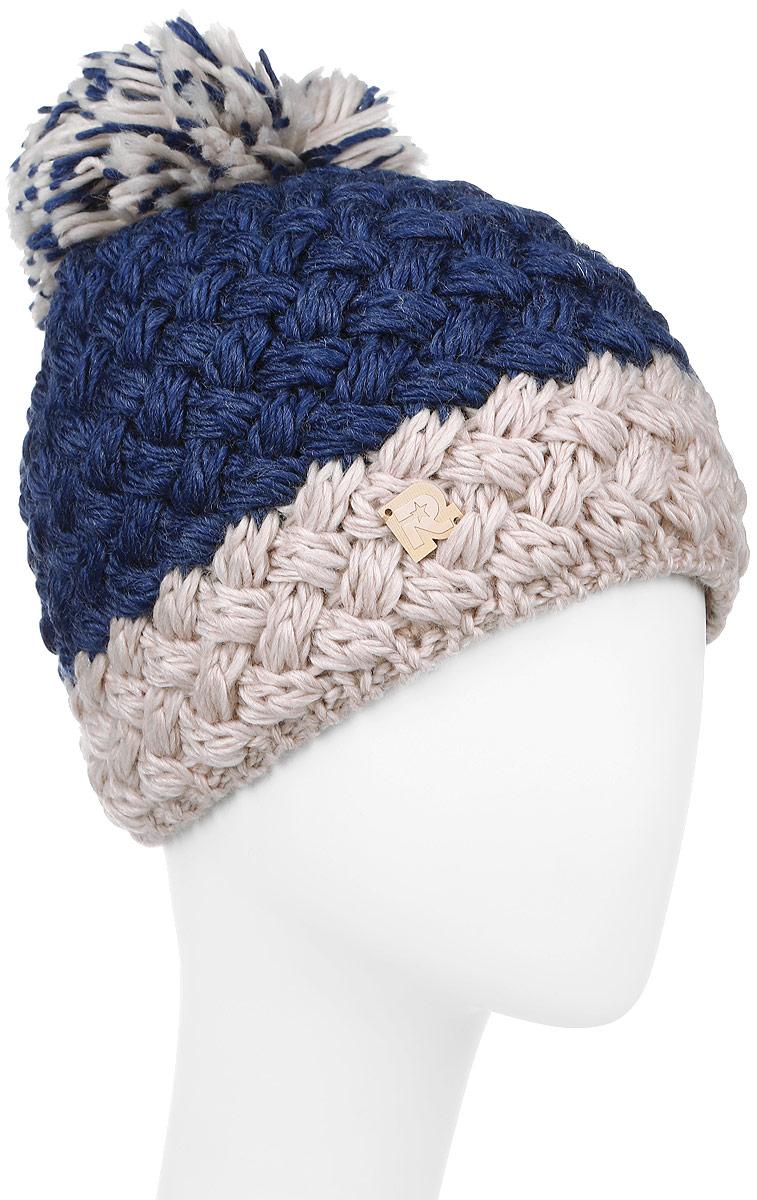 ICE 8172Вязаная женская шапка R.Mountain изготовлена из шерсти и акрила. Шапочка плотно облегает голову, что обеспечивает надежную защиту от ветра и мороза. Модель оформлена вязаным узором. Дополнено изделие небольшой деревянной пластиной с логотипом бренда. Уважаемые клиенты! Размер, доступный для заказа, является обхватом головы.