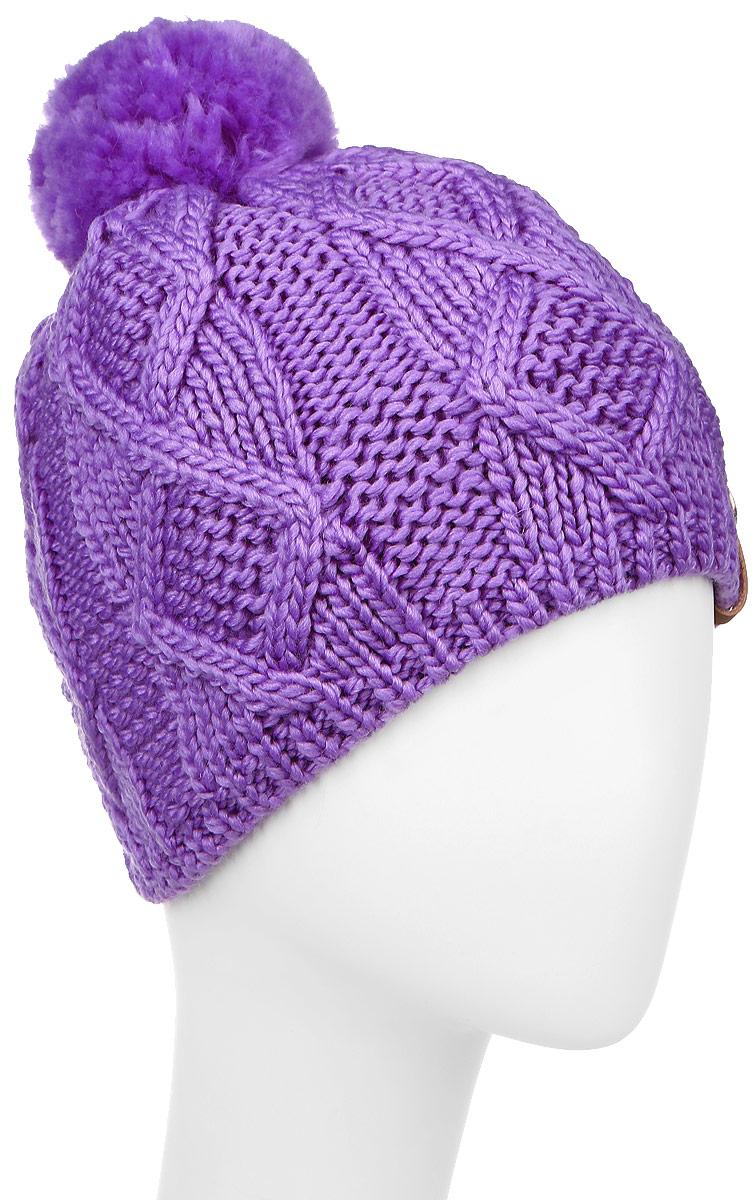 Шапка4500Теплая женская шапка Marhatter выполнена из сочетания высококачественного акрила и теплой шерсти. Шапка выполнена крупной вязкой с узором и на макушке оформлена пушистым помпоном. Сбоку модель дополнена нашивкой с логотипом бренда. Уважаемые клиенты! Размер, доступный для заказа, является обхватом головы.