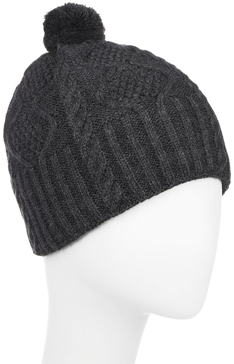 M030F-22Вязаная шапка для мальчика Concept идеально подойдет для прогулок в холодное время года. Изготовленная из акрила с добавлением шерсти, она обладает хорошими дышащими свойствами и хорошо удерживает тепло. Подкладка выполнена из мягкого флиса. Модель дополнена небольшим помпоном. Такая шапка станет модным и стильным предметом детского гардероба. Она улучшит настроение даже в хмурые холодные дни! Уважаемые клиенты! Размер, доступный для заказа, является обхватом головы ребенка.