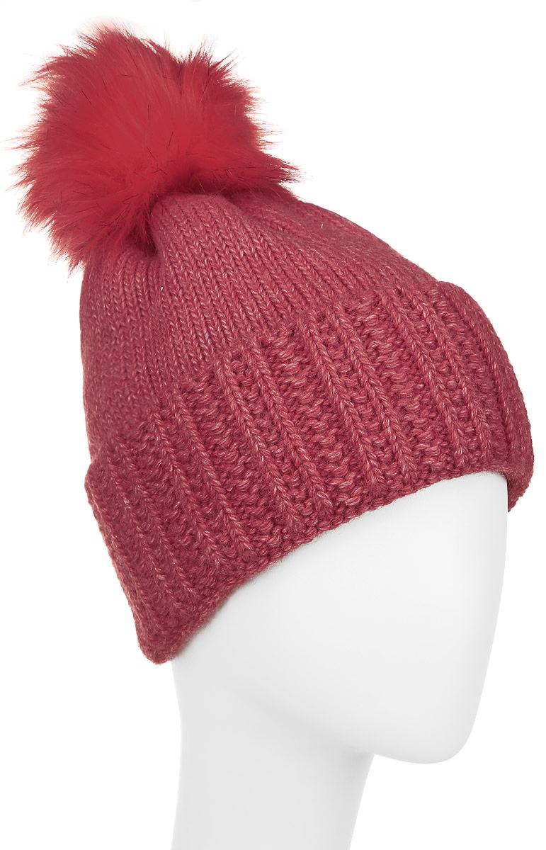Шапка детскаяАнджелаК-22Двойная вязаная шапка для девочки Concept идеально подойдет для прогулок в холодное время года. Изготовленная из 50% шерсти и 50% акрила, она обладает хорошими дышащими свойствами и хорошо удерживает тепло. На макушке модель дополнена пушистым помпоном. Такая шапка станет модным и стильным предметом детского гардероба. Она улучшит настроение даже в хмурые холодные дни! Уважаемые клиенты! Размер, доступный для заказа, является обхватом головы ребенка.
