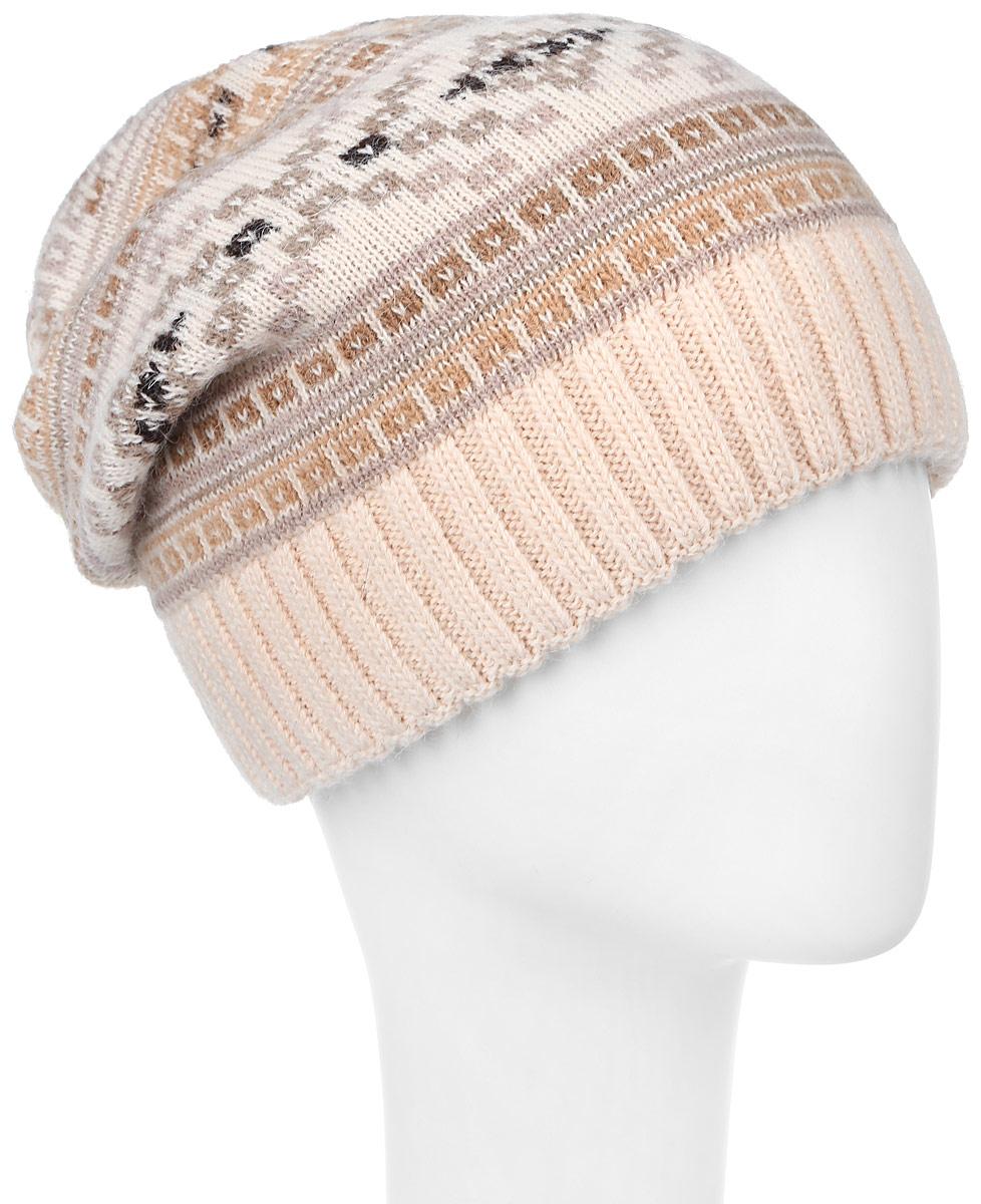 361286D-42/05Теплая женская шапка Vittorio Richi отлично дополнит ваш образ в холодную погоду. Сочетание шерсти и полиамида сохраняет тепло и обеспечивает удобную посадку, невероятную легкость и мягкость. Удлиненная шапка оформлена абстрактным принтом и по низу дополнена вязанной резинкой. Модель составит идеальный комплект с модной верхней одеждой, в ней вам будет уютно и тепло. Уважаемые клиенты! Размер, доступный для заказа, является обхватом головы.